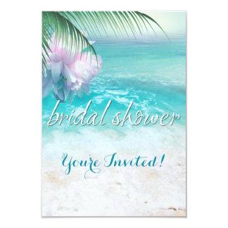SPARKLING OCEAN WATERS Bridal Shower Card