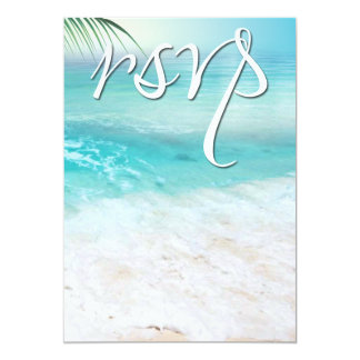 SPARKLING OCEAN WATERS RSVP Wedding Card