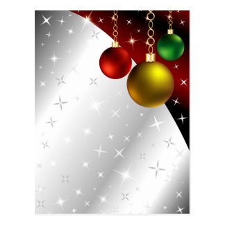 Sparkling Ornament Background Postcard