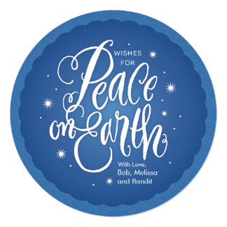 Sparkling Peace on Earth 13 Cm X 13 Cm Square Invitation Card