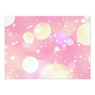 Sparkling Pink Bubbles 14 Cm X 19 Cm Invitation Card