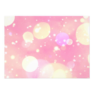 Sparkling Pink Bubbles Custom Invites