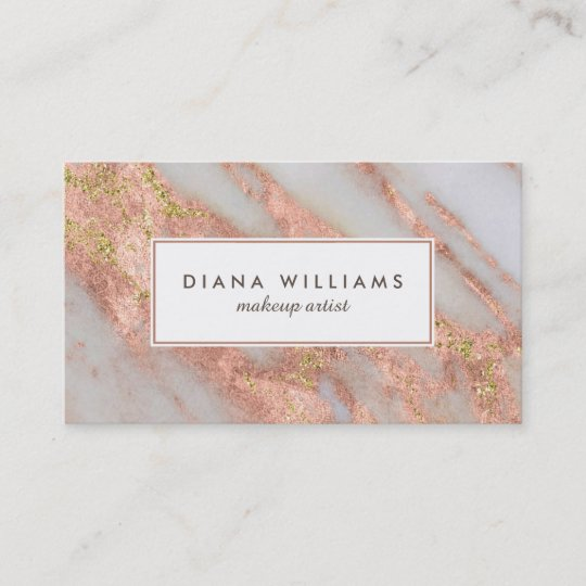 Sparkling pink marble abstract makeup artist business card zazzle sparkling pink marble abstract makeup artist business card reheart Images