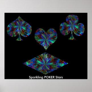 Sparkling POKER Stars Poster