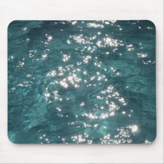 Sparkling Pool Water Background Mouse Pads