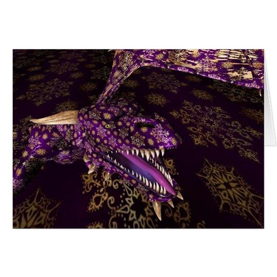 Sparkling Purple Dragon Card