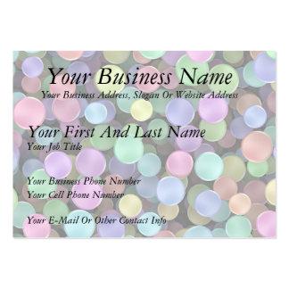 Sparkling Rainbow Polka Dots Business Card Templates
