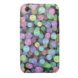 Sparkling Rainbow Polka Dots iPhone 3 Covers