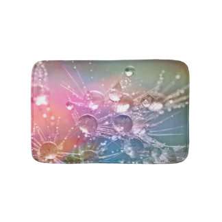Sparkling Rainbow Water Drops Bath Mats