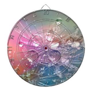 Sparkling Rainbow Water Drops Dartboard