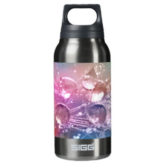 Sparkling Rainbow Water Drops Insulated Water Bottle