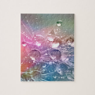 Sparkling Rainbow Water Drops Jigsaw Puzzle