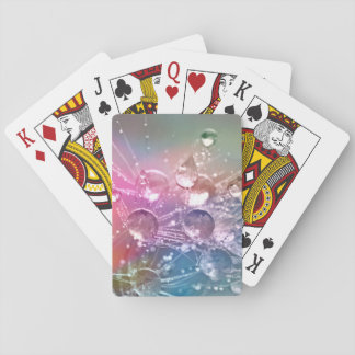 Sparkling Rainbow Water Drops Playing Cards