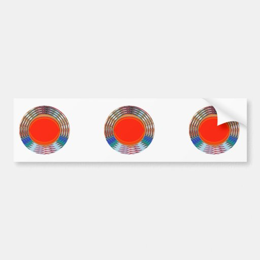 Sparkling RED Deco Emblem: GIFTS emit ENERGY Bumper Stickers