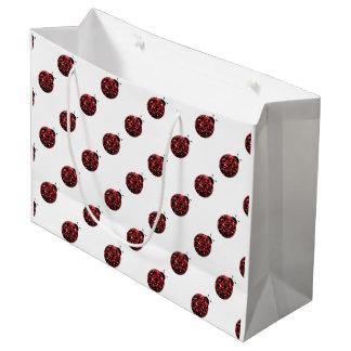 Sparkling red sparkles Ladybird Ladybug pattern Large Gift Bag