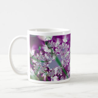 Sparkling Ribbons Abstract Fractal Design Mug