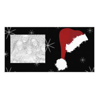 Sparkling Santa Photo Greeting Card