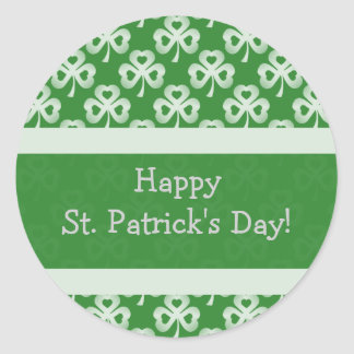 Sparkling Shamrocks Pattern Stickers
