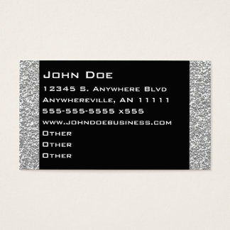 Sparkling Silver Border Business Card