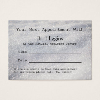 Sparkling Snow Medical Dental etc Appointment Business Card