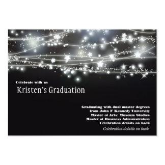 "Sparkling Stars Graduation Invitation Invites 5"" X 7"" Invitation Card"