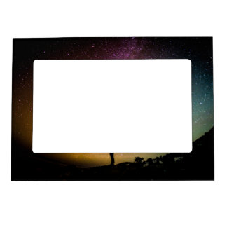 Sparkling Stars Rainbow Galaxy Magnetic Picture Frame