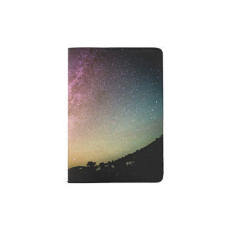 Sparkling Stars Rainbow Galaxy Passport Holder