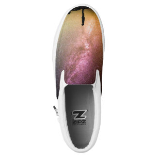 Sparkling Stars Rainbow Galaxy Slip-On Shoes