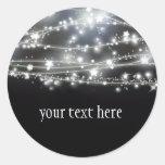 Sparkling Stars Round Sticker