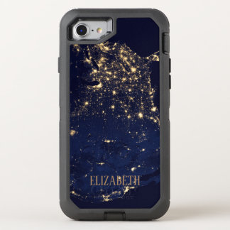 Sparkling Starts beautiful fashion style rich blue OtterBox Defender iPhone 8/7 Case