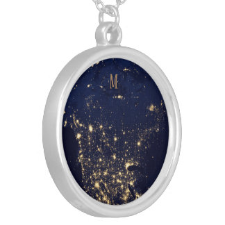 Sparkling Starts beautiful fashion style rich blue Silver Plated Necklace