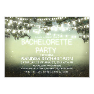 sparkling string lights BACHELORETTE PARTY INVITES