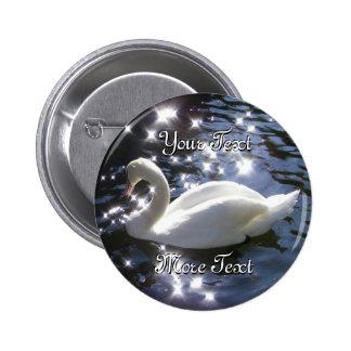 Sparkling Swan Button