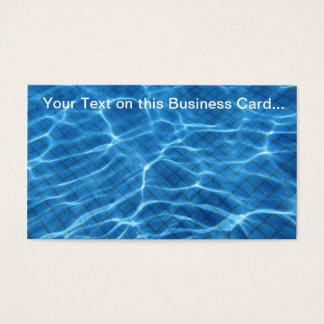 Sparkling Swimming Pool Backgorund Business card
