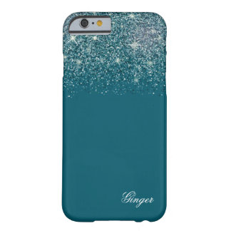 Sparkling Teal and Glitter Barely There iPhone 6 Case