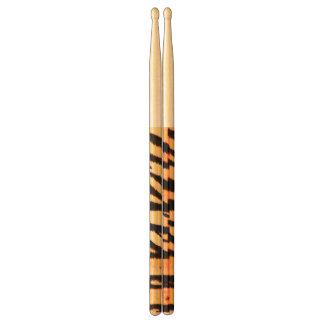 Sparkling Tiger Custom Animal Print Drumsticks Drum Sticks