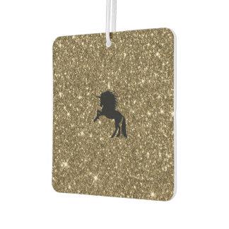 sparkling unicorn golden car air freshener