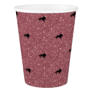 sparkling unicorn pink paper cup