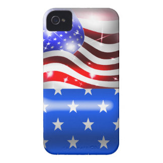 Sparkling USA Flag Blackberry Bold Case