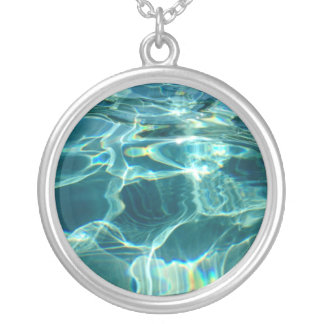 Sparkling Water Pool Blue Pendant Charm Gift Idea