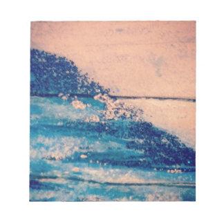 Sparkling Waves design Notepad