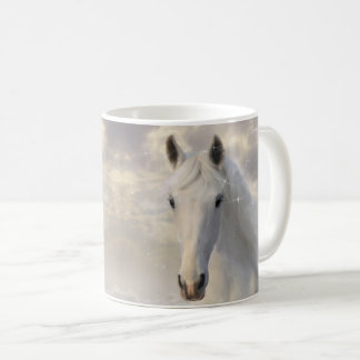 Sparkling White Horse Mug