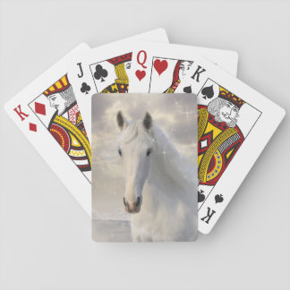 Sparkling White Horse Playing Cards