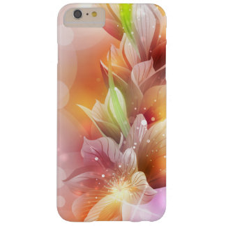 Sparkly Abstract Gold Floral Barely There iPhone 6 Plus Case