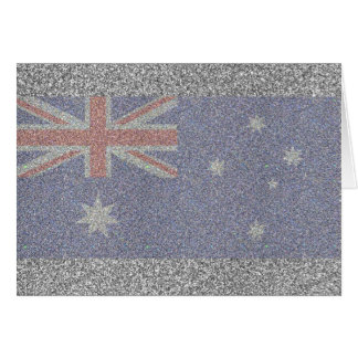Sparkly Australian Flag Note Card