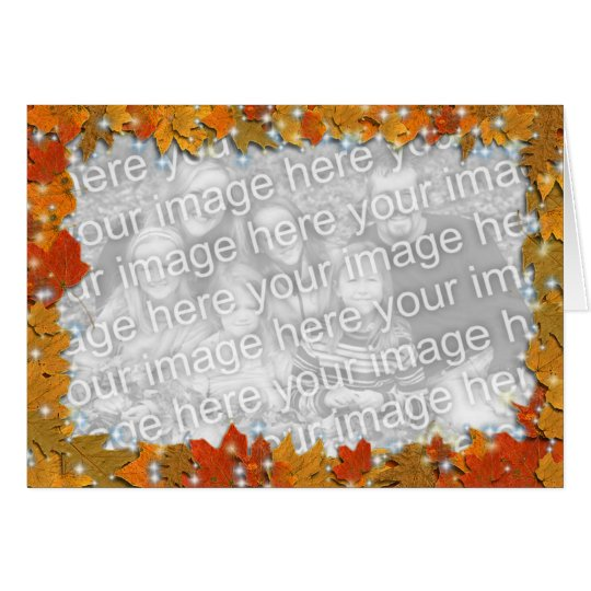 Sparkly Autumn Leaves Card