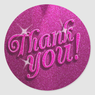Sparkly Birthday Party Thank You Stickers