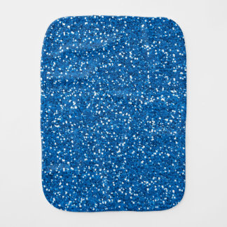 Sparkly Blue Glitter Baby Burp Cloth