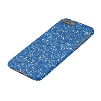 Sparkly Blue Glitter Barely There iPhone 6 Case