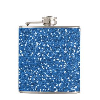 Sparkly Blue Glitter Hip Flask